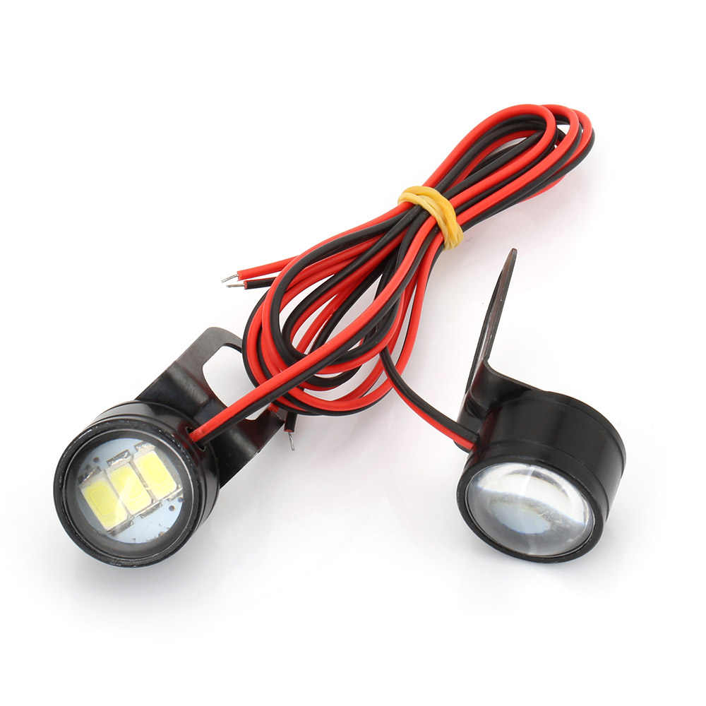 2Pcs White Motorcycle LED Light Handlebar 12V LED Moto Spotlight Headlight 120LM LED Motorcycle Light Driving Light Fog Lamp