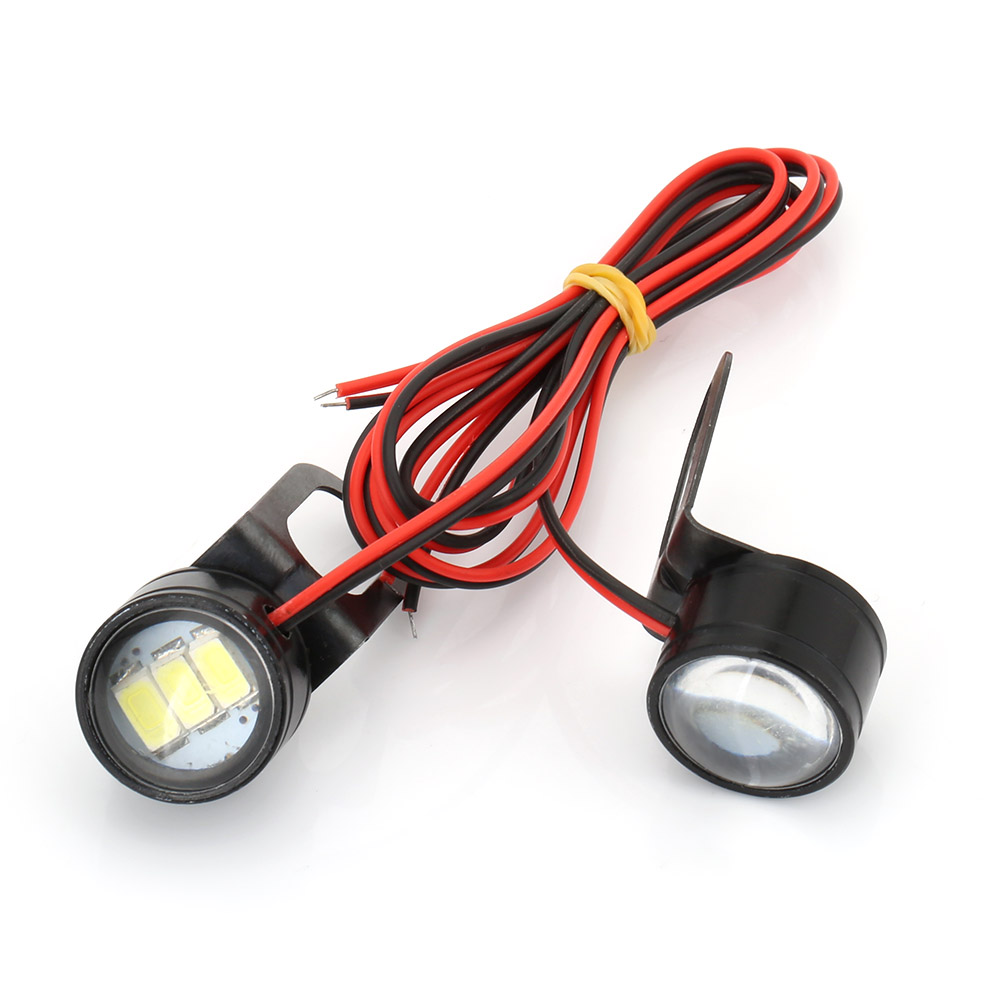 Led-Light Motorcycle Handlebar White 12V 2pcs Fog-Lamp 120LM title=
