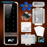 HOMSECUR Waterproof Door Lock 125Khz RFID Access Control System+Tamper Alarm+Wiegand 26+Electric Lock