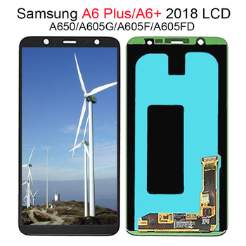 LCD A6 Plus For Samsung Galaxy A6 Plus/A6+ 2018 A605 A605FD A605G AMOLED LCD Display Touch Screen Assembly Replacement