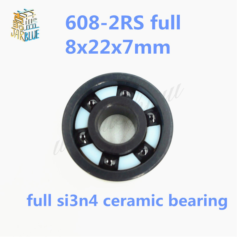 Free shipping 608-2RS full SI3N4 ceramic deep groove ball