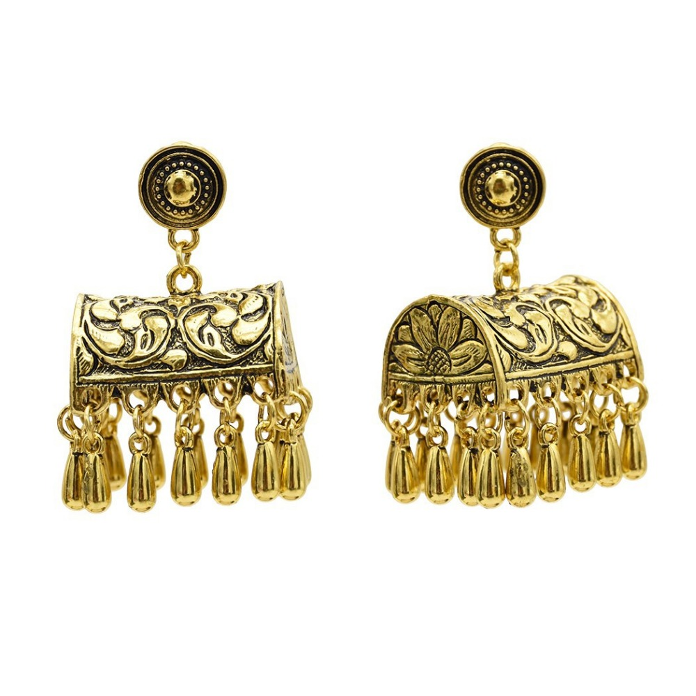 Vintage Ethnic Afghan Pakistani Tassel Box Dangle -4497