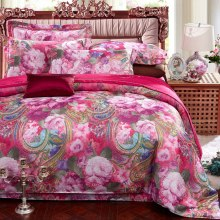 Jacquard Silk Bedding Set satin bed linen/bedclothes queen king size including duvet cover 100% cotton sheet pillowcases