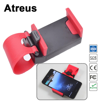 Atreus Universal Car Steering Wheel Clip Phone GPS Ipad Holder For Mercedes benz W204 W203 W211 AMG Mini cooper Skoda octavia a5 image