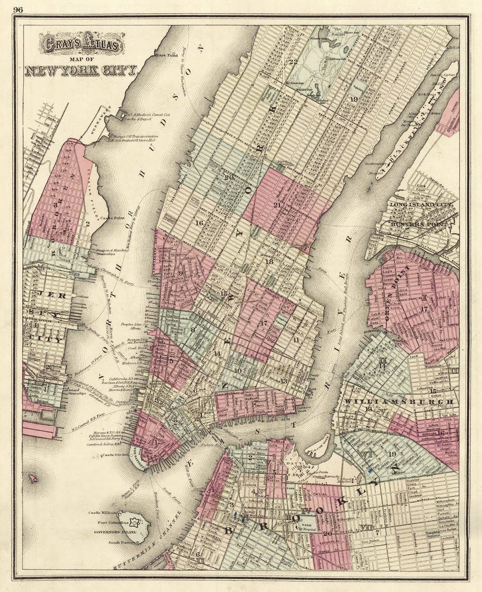 Brooklyn Map Poster PromotionShop For Promotional Brooklyn Map - New york map hudson river