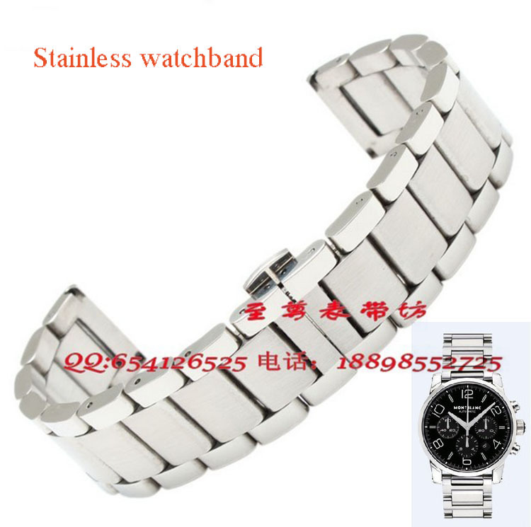 18mm 20mm 22mm New Mens Silver frosted Stainless Steel Bracelet Watch Band Strap Watchbands Bracelets For Brand Watchs stainless steel watch band 18mm 20mm 22mm 24mm for orient safety clasp strap loop belt bracelet black rose gold silver tool