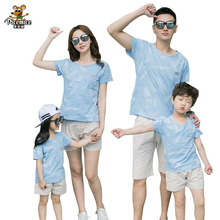 Family Matching Outfits New 2020 Summer Family Clothing Cotton Mother Daughter Father Son T-shirt Short Pants Sets Family Look family look clothing 2020 summer mother daughter dress family matching outfits father son t shirt short pants clothes set