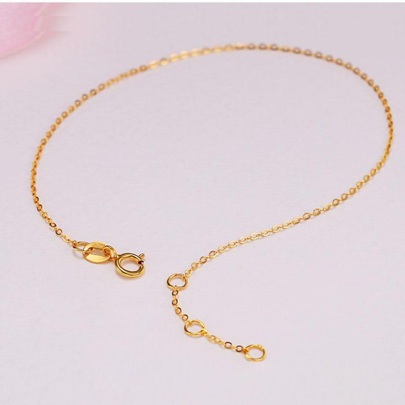 Sinya Au750 18k gold Bracelets Anklets with yellow or Rose color optional for women girls lover Mom 16+2cm