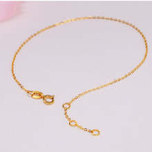 Sinya Au750 18k gold Bracelets Anklets with yellow or Rose color optional for women girls lover Mom 16+2cm