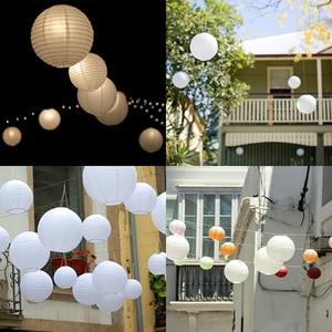 """Image 5 - 30 adet 4 """" 12"""" beyaz kağıt fener çin lanterne kağıt lamba düğün parti cadılar bayramı noel olay asılı dekorlar favor"""