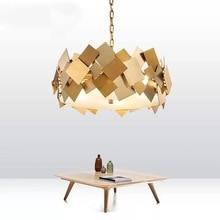купить Post-modern LED Iron pendant light living room suspended lighting Novelty home deco fixtures bedroom hanging lights Nordic lamps по цене 19923.63 рублей