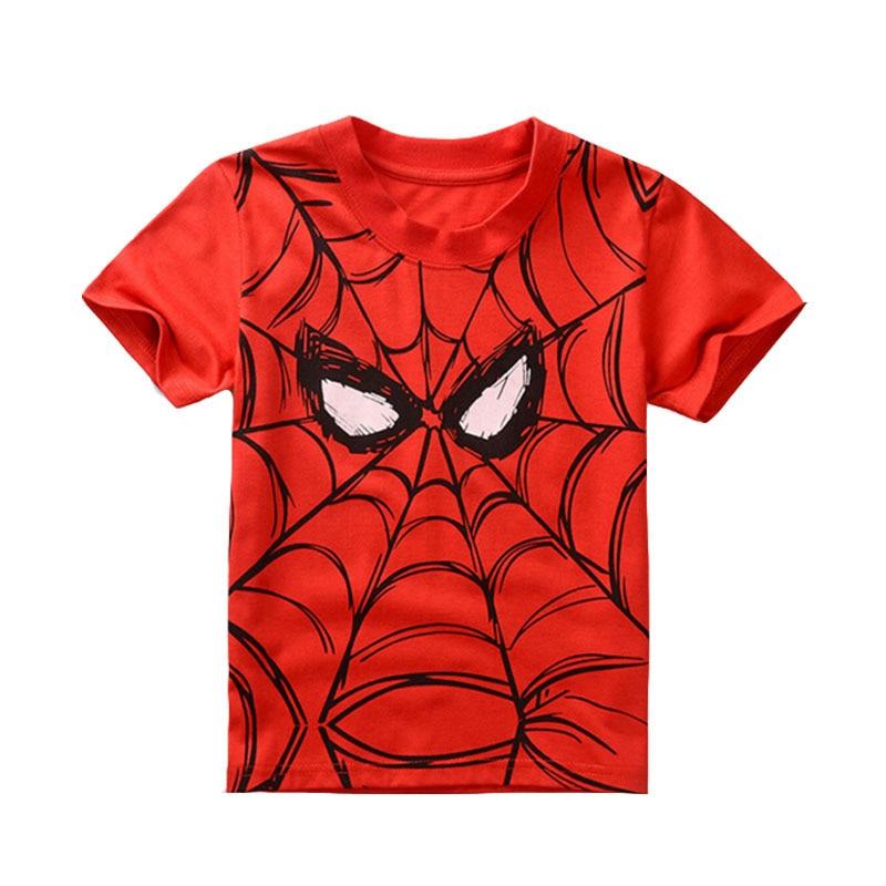 New 2016 cotton short sleeve spiderman kids t shirts for Kids t shirt printing