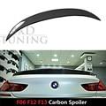 2014-2016 Серии 6 Углеродного Волокна Задний Спойлер Багажника Крыло для BMW F06 F12 F13 2014 2015 2016 4 двери