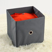 Gray Foldable Storage Box For Clothes Underwear Polyester Fabric Drawer Organizer Containers