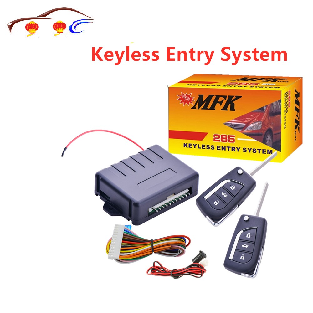 MFK 285 Keyless Entry System With Positive And Negative Jumper Tail Box Selection Unlock Lock