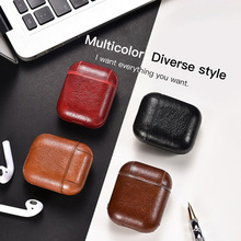 Luxury Leather Bluetooth Wireless Earphone Case For Apple AirPods Ultra-thin PU Protection Cover Airpods Charging Box Funda