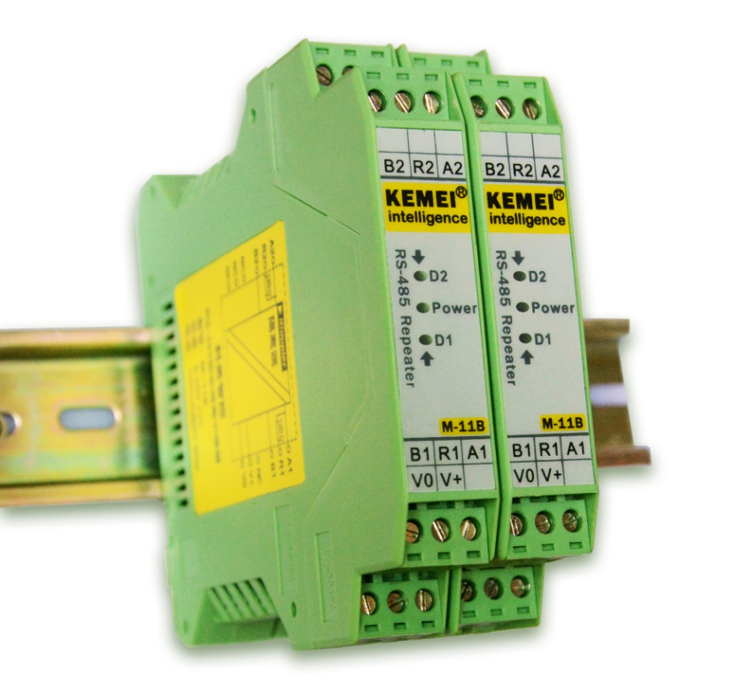 RS485 Repeater, Intelligent Isolation Module, Hub Isolation Grid, Industrial DIN Rail Installation rs485 hub 2 hub 485 switch 232 converter optical isolation industrial grade dt 9022i