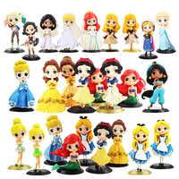 12cm Qposket Q Posket Ariel Wonder Woman Harl Quinn Sleeping Beauty Mermaid Snow White Princess Rapunzel Belle Cake Wedding Toys
