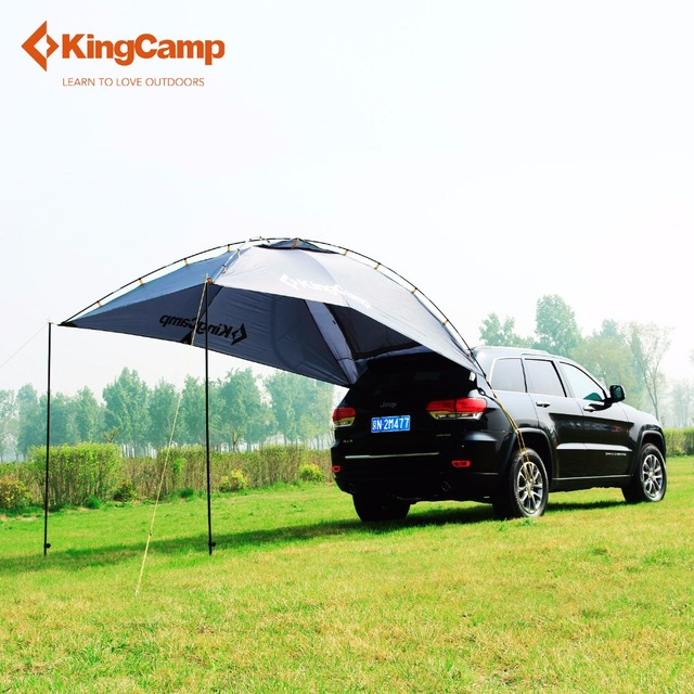 kingcamp durable 4 person car sun shelter for family self driving camping high quality