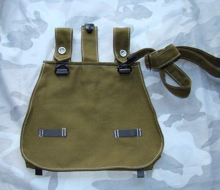 WW2 WWII Military German Army Bread Bag Wool Woolen Grey