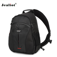 Jealiot Triangle package Waterproof Travel DSLR Shoulder Camera Bag Photo with Rain Cover Sling Bag for Sony Nikon Canon Digital