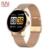Newwear Q9 Smart Watch Men Women Fashion Business Waterproof Heart Rate Blood Pr