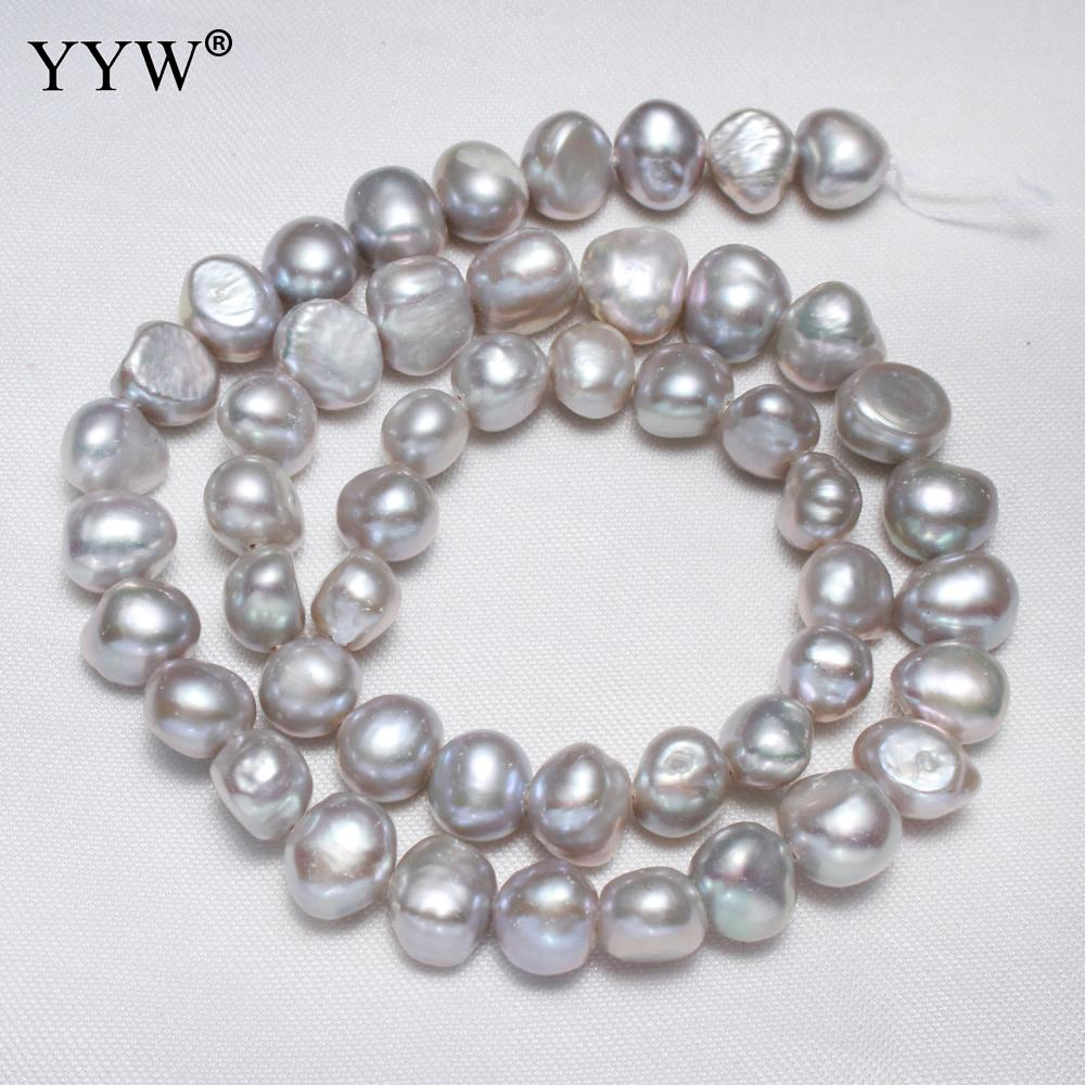 7-8 mm Ivory White Baroque Nugget Freshwater Pearls Beads for Jewellery Making
