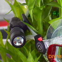 Asafee Scuba Dive Mask Torch Mini Diving Flashlight Underwater 200M CREE XML L2 LED Diving Headlight with Mount