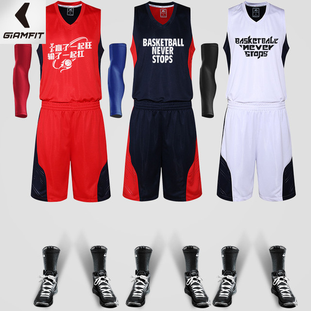 685316e9d M-5XL Newest Man Basketball Jersey & Shorts 2PCS Set Custom LOGO Number  Name Dry Fit Male Shirts Suit Maillot De Homme Clothes