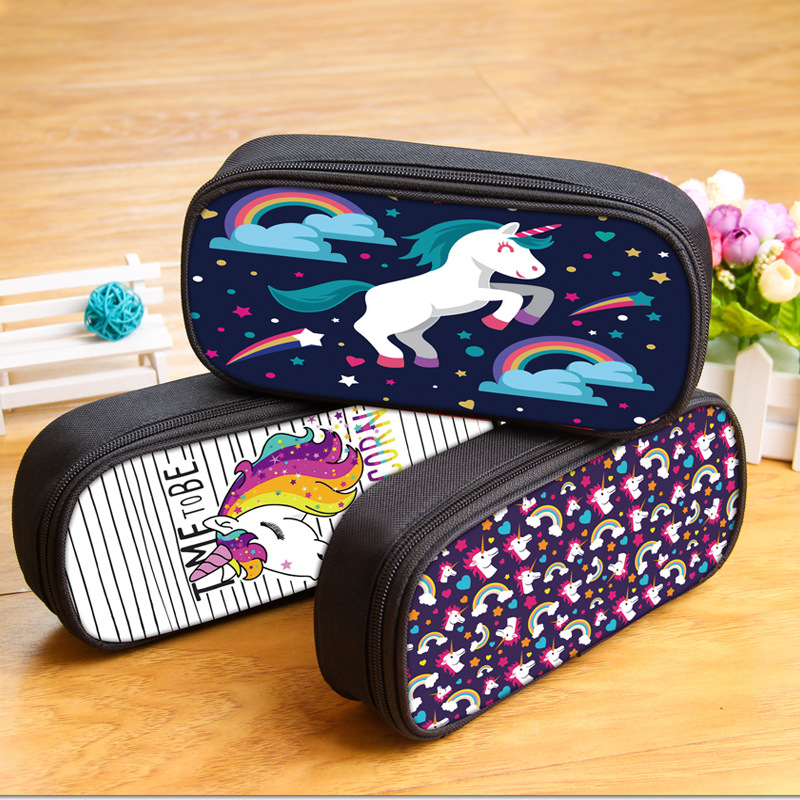 KAWAII Rainbow horse pencil case animal large capacity unicorn pencil box for gift School Supplies Stationery Estuches 04958 hi ce new arrival mechanical horse kawaii animal ride on horse lion rode on horse kids toy for children adult new year gifts