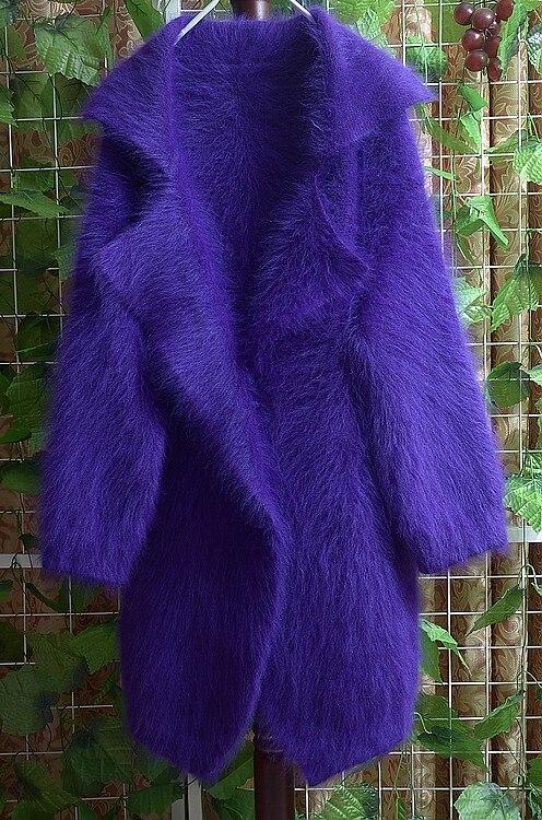Autunno e inverno donne ispessimento visone velluto lungo maglione tuta sportiva di disegno lungo cappotto cardigan turn-down collar all'ingrosso