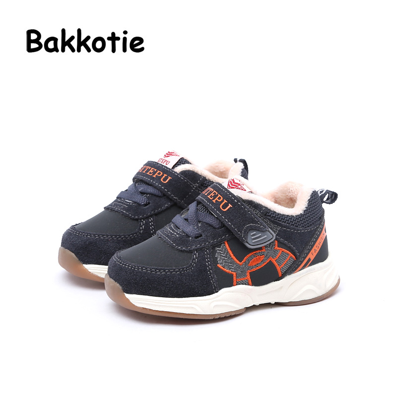 Bakkotie 2017 Winter Baby Boy Leisure Sneaker Loop Microfiber Toddler Girl Brand Casual Sport Shoe Black Kid Child Soft Sole