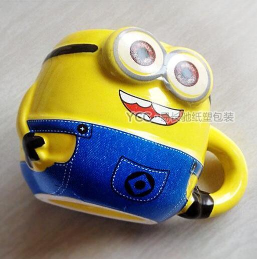 Cartoon Lovely Minions Ceramic Cup Mousse Dessert Ice Cream Cup Children Mini Mug 120ml