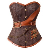 Faux Leather Corset-4