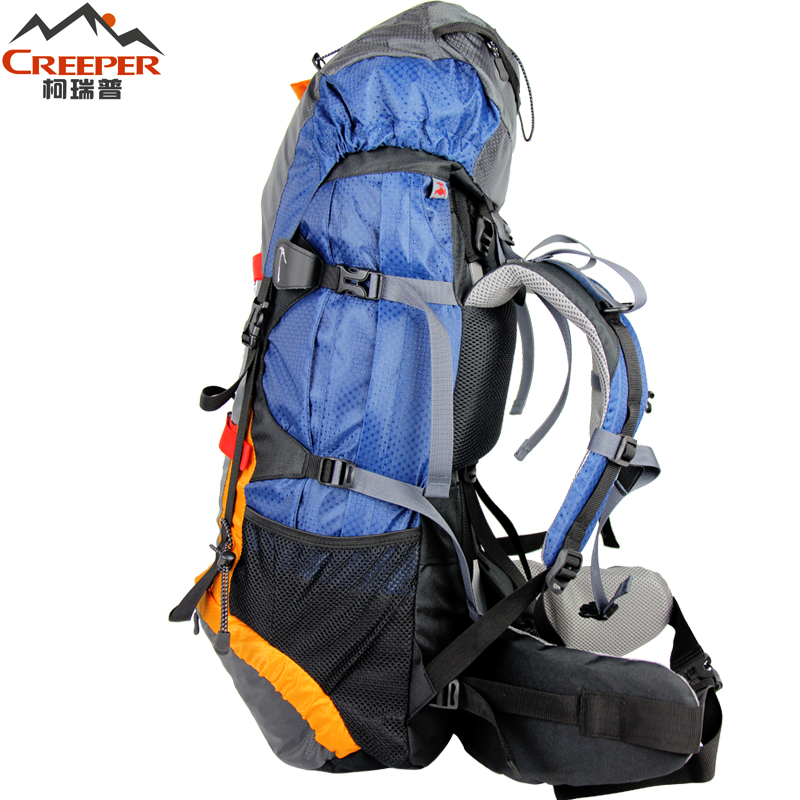 Creeper Free Shipping Professional Waterproof Rucksack External Frame Climbing Camping Hiking Backpack Mountaineering Bag 60L in Climbing Bags from Sports Entertainment