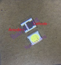 500 ชิ้น/ล็อต Jufei 3528 SMD LED 2835 6V Cool สีขาว 96LM สำหรับทีวี LCD Backlight