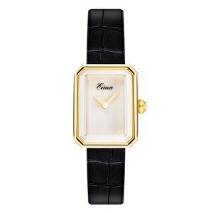 Image 2 - EIMA トップ高級女性レザーストラップクォーツ腕時計ファッション腕時計 Feminino Relojes