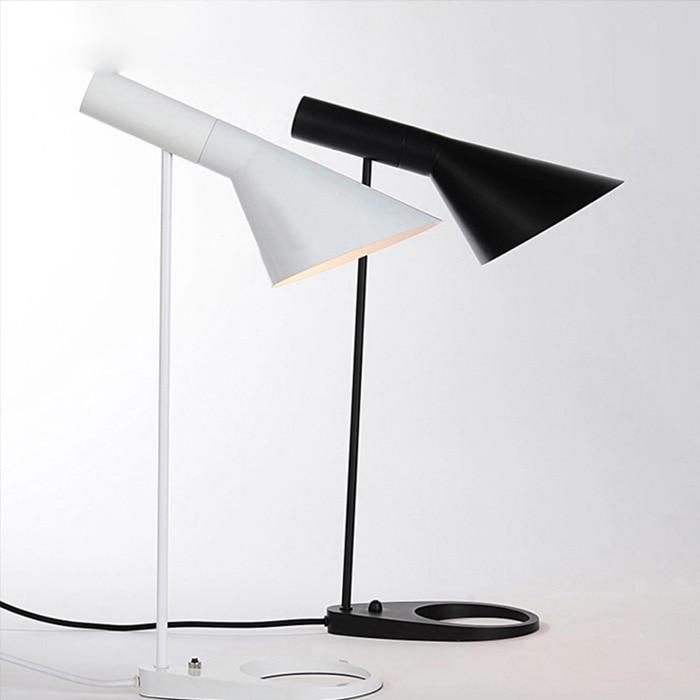 modern nightstand light creative reading lamp white black lampshade modern scene 5w white e27 led lamp