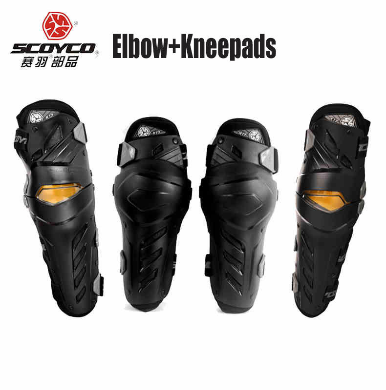 Motocross Kneepads SCOYCO Motorcycle Knee Protector And Elbow Protector Outdoor Sports Motorcycle Equipment k17h17