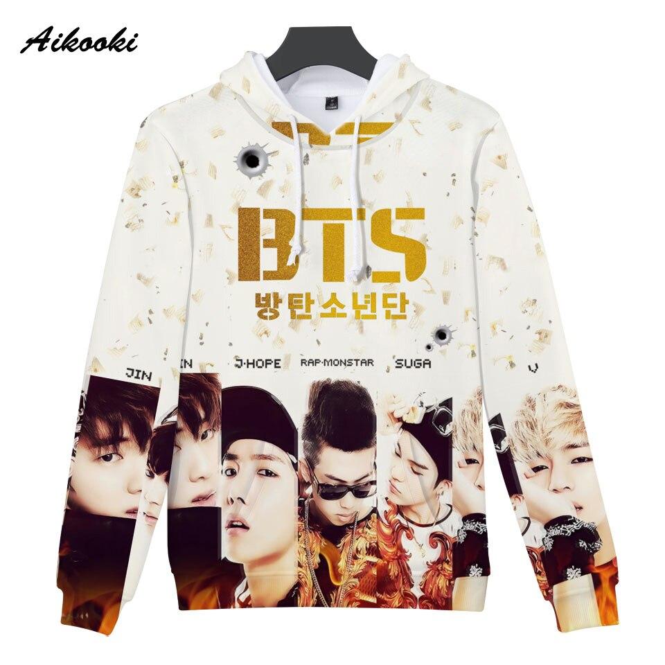 Fashion K-POP BTS 3D Hoodies Men Hoodie Sweatshirt Women BTS 3D Print Pullover Hoodied Casual Autumn Winter BTS Seatshirts