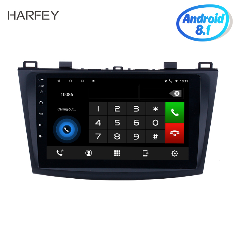 Harfey 9 inch Android 8.1 Car Radio for 2009 2010 2011 2012 MAZDA 3 with GPS Bluetooth WIFI USB 1080P car multimedia player image