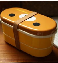 3 Pieces Japan Koreaanse Europa Beer Kip Bilaag Lunchbox Rilakkuma Bento(China)