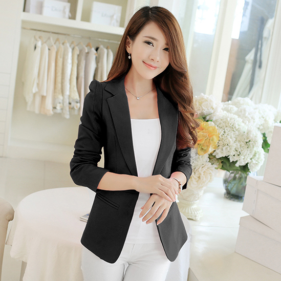 Hot Ing Fashion Elegant Business Formal Office Suits Wear Women Long Sleeve Pink Black White Blazer Suit Jacket L In Blazers From S Clothing