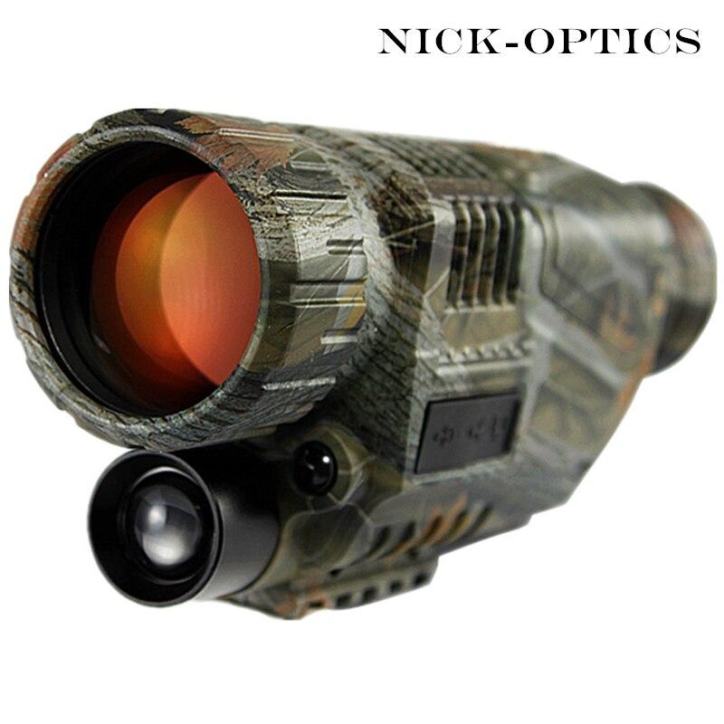 2018 telescopio táctico de visión nocturna infrarroja militar Digital Monocular HD potente arma vista visión nocturna de caza Monocular