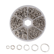 4-10mm Mixed Color Open Jump Ring Jewelry Making Connector Hand Made Diy Jewelry Closed Circle For Necklace Bracelet Earrings closed circle