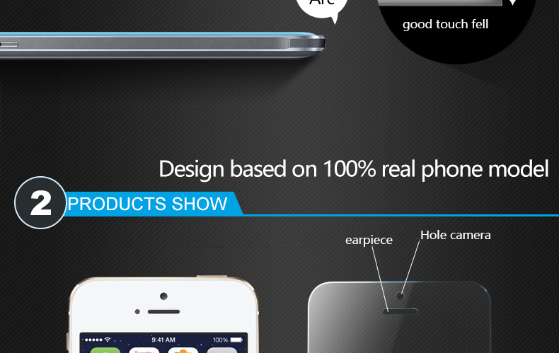 CHYI for iphone 5s glass 9h hardness full coverage explosion-proof tempered glass 5S iphone on glass open the front camera hole 7
