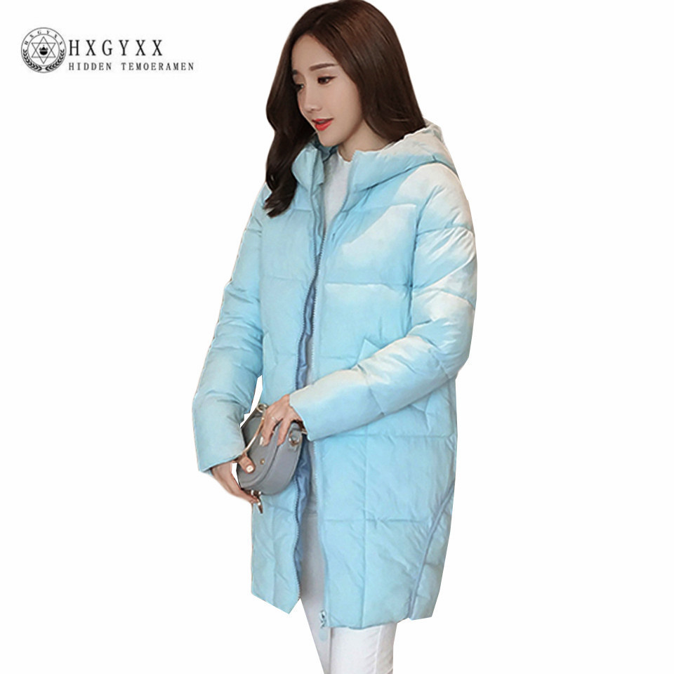 2017 New Quilted Jacket Women Winter Plus Size Down Cotton Parka Padded Warm Long Loose Outerwear Solid Hooded Puffer Coat Okb52