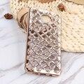 Soznoc chapeamento de diamantes de luxo tpu soft case para samsung a3 a5 a7 2015 2016 ACE J1 J2 J3 J5 J7 2015 2016 Glittering diamante case