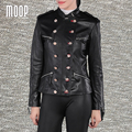 Вмс ветер стиль черный тед подлинная кожаные куртки овчины реального кожаная куртка пальто весте ан cuir femme jaqueta де couro LT1118