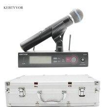 SLX24/BETA58 ВЫСОКОЕ КАЧЕСТВО Одиночная Ручной беспроводной микрофон UHF вокальный Системы с 6 pin ручной микрофон